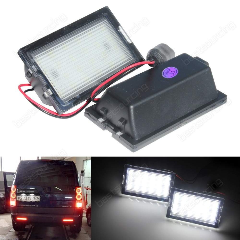 Licence Number Plate White LED Light for Land Rover Discovery 3/ 4 for Land Rover Range Rover Sport (CA293) new car white led license plate light lamp for land rover discovery 3 4 freelander 2 for rang rover sport white auto car lights