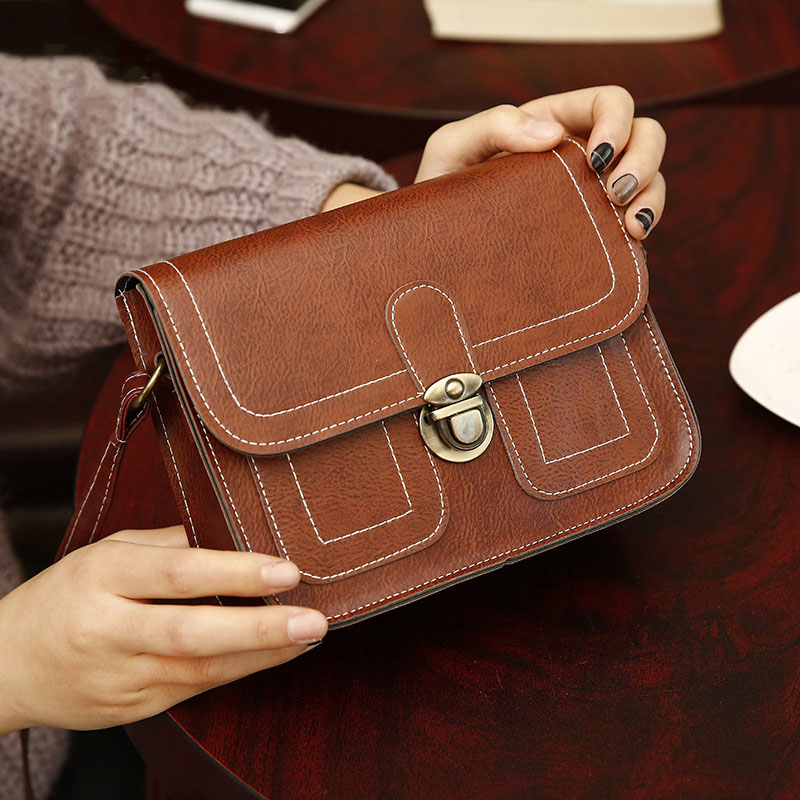 2018 New Korean Version Of The Small Square Fashion Women's vintage Shoulder Bag Shoulder Bag Messenger Bag Mobile Phone Bag lady g1 13 shoulder bag fashion handbag small square bag handbag messenger bag small bag 2017 new korean version of the wave