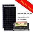 200w 200 Watt 2 100w Solar Panel  for 12v Battery Off Grid Power generator System Panel+20A solar controller
