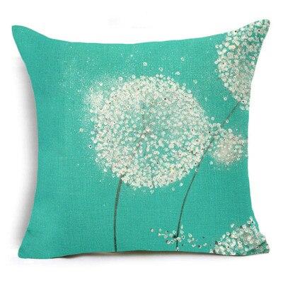 Housse de coussin Free Fly Noir Blanc moral Dandelion Throw Pillow Case Decorative