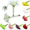12 unids/pack Multi Colores Decorativo Flor Artificial Flor del Lirio de Cala Real Touch Flor Del Banquete de Boda Decoraciones de Eventos