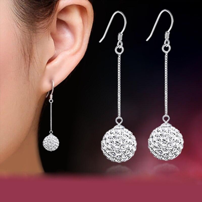 Élégant Femme Lady Noir Blanc Cristal Strass Pentagram Ear Stud Boucles d/'oreilles