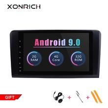 2 din автомобильный радиоприемник gps Android 9,0 NO-DVD мультимедийный плеер для Mercedes Benz ML W164 ML300 GL X164 GL320 350 420 450 500 навигации