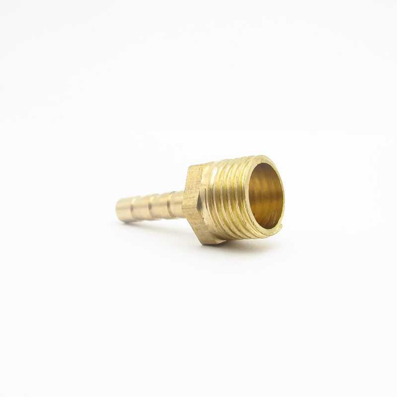 """4 Mm Selang Duri X 1/4 """"BSP Male Thread Kuningan Berkait Pemasangan Pipa Puting Coupler Konektor Adaptor untuk Pemakaian air Gas"""