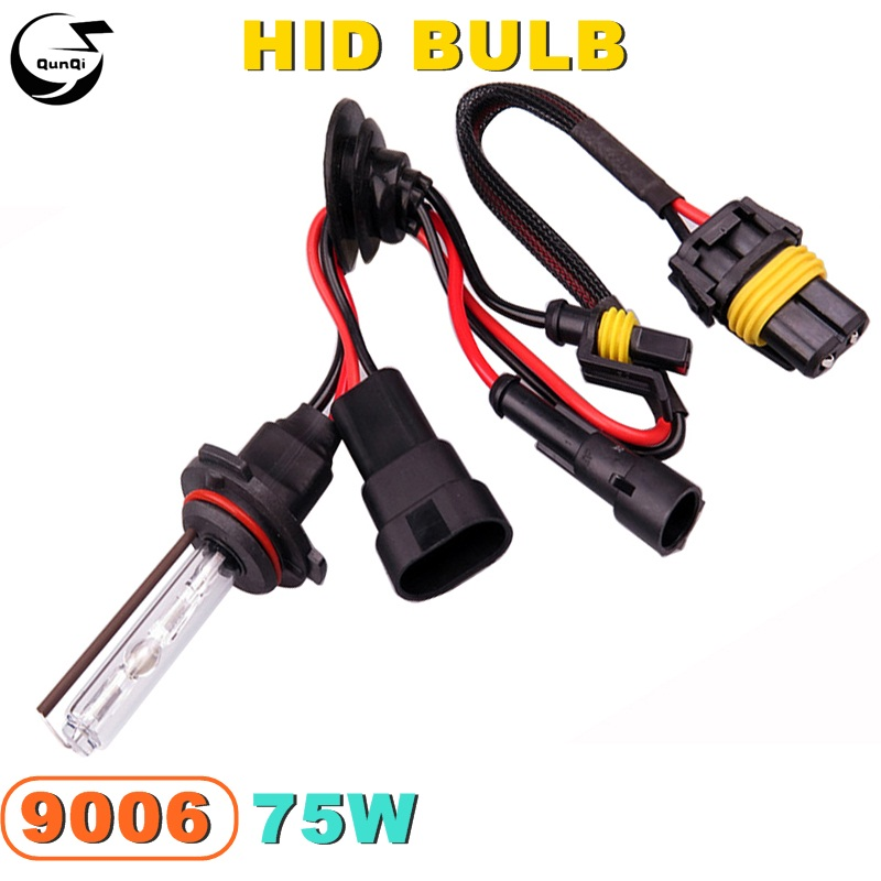 9006 75W 12V Car Styling HID Xenon Bulb Headlight Lamp Replacement Auto Motorcycle Light Source 3000K 4300K 6000K 8000K 12000K car light source 2pcs 12000k car head light replacement h7 xenon hid headlight 35w bulb lamp