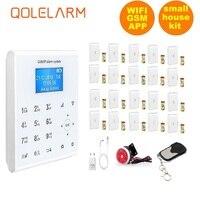 Qolelarm WI FI GSM SMS дома охранной сигнализации Системы приложение контроль вибрации окна Сигнализация обрыва провода 433 МГц