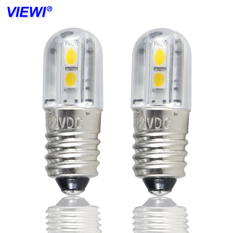 4x E10 Led Bulb Lights 1w Dc 6v 12v 24v 36v 48v Indicator Blue Warm White