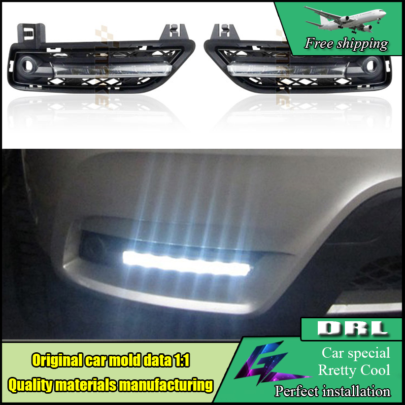 Car Styling LED DRL Daytime Running Light For BMW X3 F25 2011 2012 LED Waterproof Front Bumper Fog Lamps Daylight DRL buildreamen2 car styling led light right left fog bulb daytime running lamp drl 12v for infiniti m56 2011 2012 2013