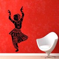 Hint Kadın Oryantal Dans Duvar Çıkartmaları Ev Dekoratif Çıkarılabilir Kendinden Yapışkanlı Vinil Duvar Çıkartmaları