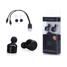 HESTIA Mini Bluetooth Auricular Gemelos X1T Inalámbrica Bluetooth 4.2 de Alta Fidelidad estéreo Del Coche Auricular Con el Mic Para El Iphone 6 s 6 Samsung auriculares