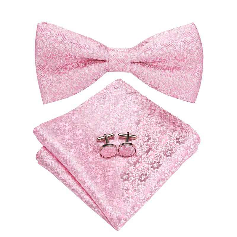 f6daba69fe88 ... 23 Styles Bow Tie Set Silk Butterfly Pre Tied Bowtie Pocket Square  Cufflinks Set Men's Wedding
