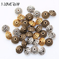 Wholesale Factory Price 100pcs Antique Metal Silver Spacer Beads Gold Cone pattern 6mm for Jewelry Making