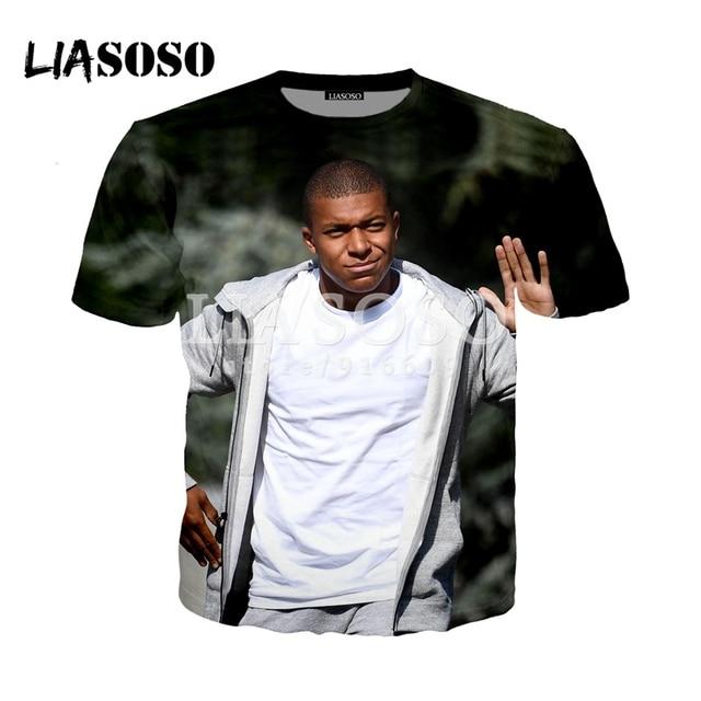 624aec37e LIASOSO NEW France Kylian Mbappe Shirts 3D Print T shirt Hoodie Sweatshirt  Hipster Unisex tshirt Tops G2144