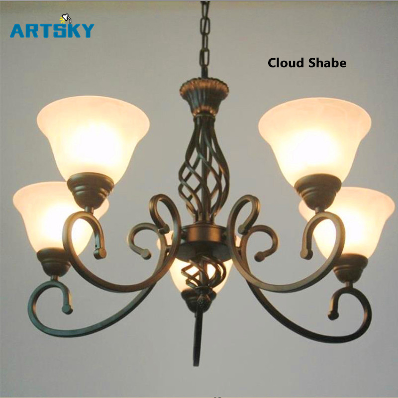 Europe  White/ Black Chandeliers Lights  for Restaurant Livingroom - Indoor Lighting