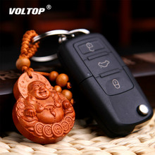 Walnut Wood Sculpture Car Hanging Accessories Ornaments Pendant Interior Dashboard Decorations Lucky Maitreya youfine bronze elephant sculpture copper painted ornaments lucky feng shui like living room porch decorations