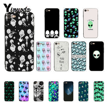 Yinuoda Alien Believe UFO ET cute Emoji DIY Painted Phone Case for iPhone 8 7 6 6S 6Plus X XS MAX 5 5S SE XR Fundas Capa