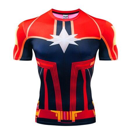Мстители эндгейм футболка Квантовая царство компрессионная с коротким рукавом для мужчин тренажерный зал Спорт Фитнес окрашенные футболки спортивная одежда для мужчин - Цвет: DX-057