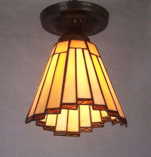 Европейский светильник, стеклянные потолочные лампы для балкона, потолочный светильник, теплый стеклянный потолочный светильник, декоративный желтый стеклянный светильник ZA825443