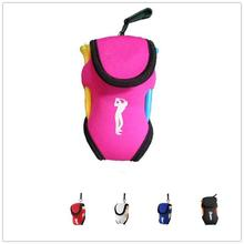 Buy HobbyLane Outdoor Portable Mini Golf Bag 4 Tees and 2 Balls Holder Neoprene Mini Waist Bag Sports Tool Pack Balls Tees Accessory directly from merchant!