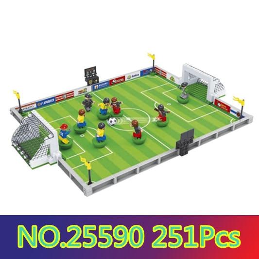 Model building kits compatible with lego city football 251 Pcs 3D blocks Educational model & building toys hobbies for children