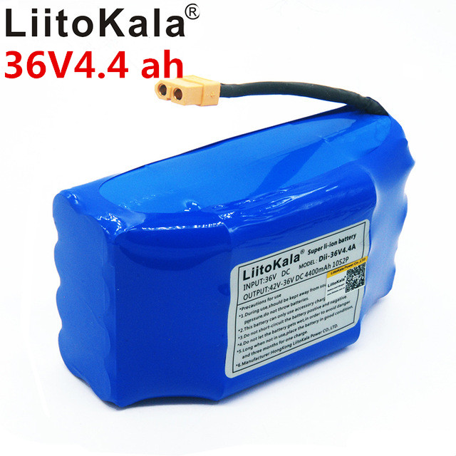 Nouvelle batterie au lithium liitokala 36 v 4.4ah 10s2p 36 36 v 4.4ah batterie lithium-ion 4400 v mah batterie de voiture scooter