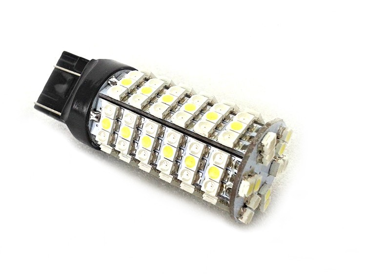 CNSUNNYLIGHT W21/5 W 7443 T20 светодиодный 120SMD 3528 резервный сигнал заднего хода Белый/янтарный переключатель заднего тормоза автомобиля стоп лампы