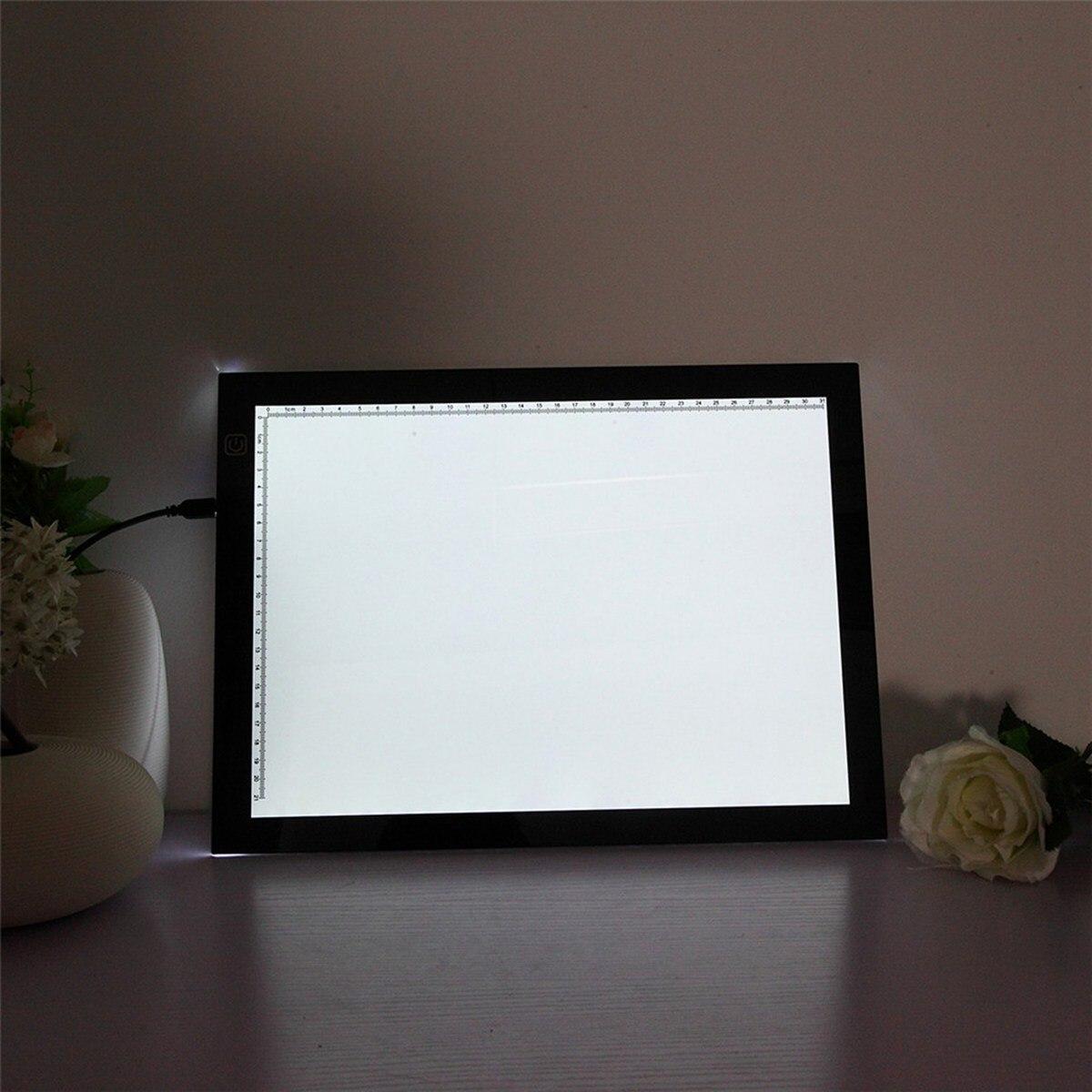 Ультра тонкий A3 светодио дный отслеживание доска для рисования записи Краски ing световой короб художественных промыслов Краски Pad Трассиро...