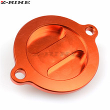 High quality Motorcycle CNC Engine Oil Filter Cover Cap With LOGO For KTM DUKE 125 200 390 690 RC