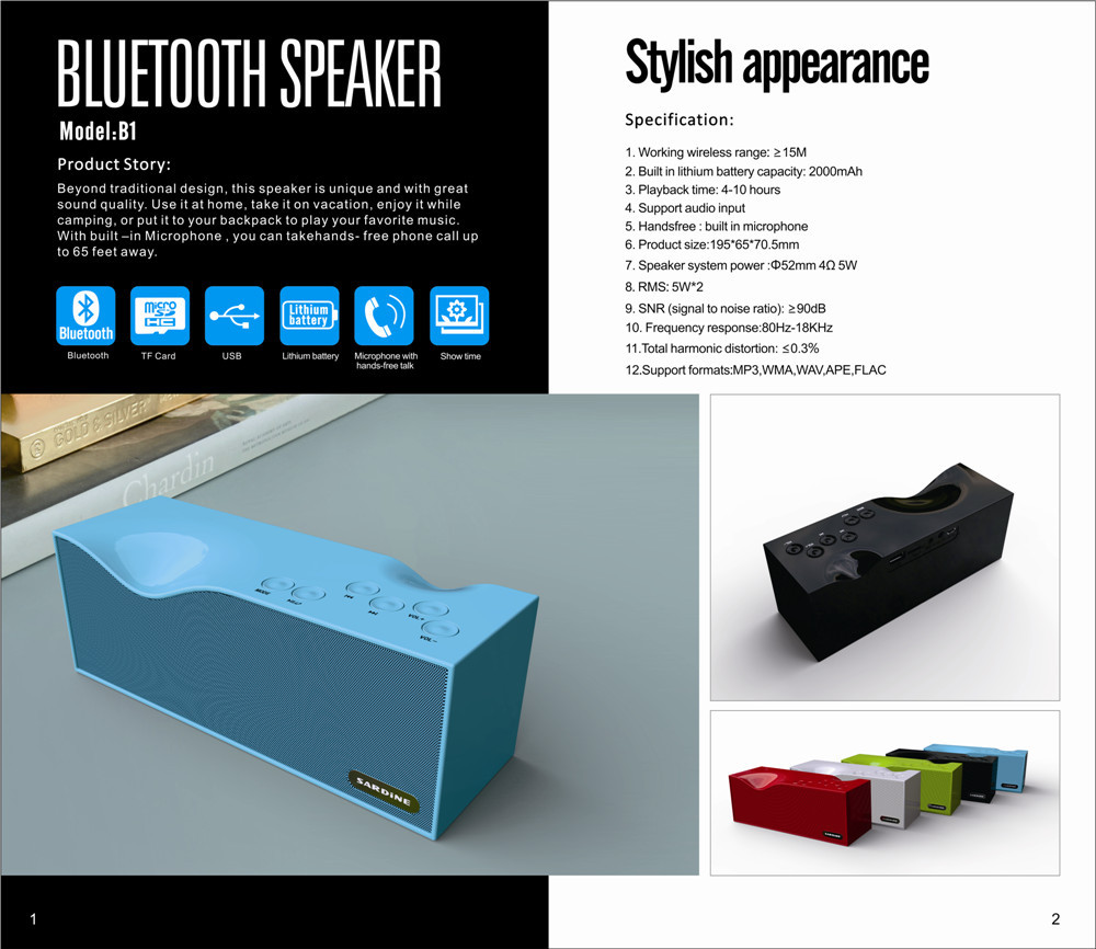 100 Brand New Fashion Portable Bluetooth Sardine Sdy B1 Hifi Circuit Design Quality Suppliers Speaker Handsfree With Led Display Fm Radio Usb Sd In Speakers From Consumer