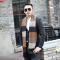 Luxury Brand New Winter Chaddar Men Scarf Large Thermal Stable Atmospheric 6 Color Stripe Scarf for Christmas Gife