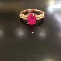 2017 Qi Xuan_Fashion Jewelry_Red Stone Простой Элегантный женский rings_розовое Золото Цвет Мода rings_производитель прямые продажи