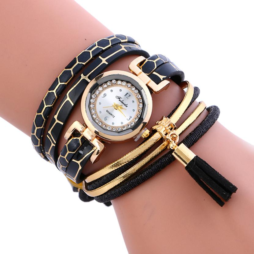 d185322d9 ٩(^‿^)۶ Popular famous leather crystal watch and get free shipping ...