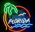 Пользовательские пляж Флориды Pam дерево стекло неоновый свет знак пивной бар