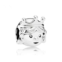 Crown Princess DIY Jewelry Charms Beads Fit Pandoraa Bracelet & Necklaces Pendant Authentic Beads Jewelry Making Women Gifts(China)