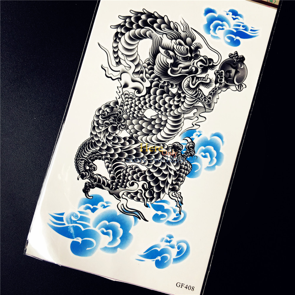 Black Dragon Ball Clouds Temporary Tattoo Stickers For Men Arm