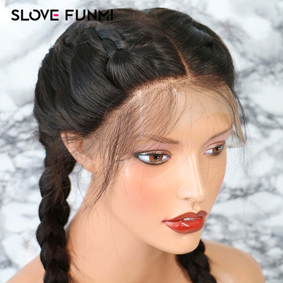 Straight Full Lace Front Human Hair Wigs For Black Women With Baby Hair Glueless Pre Plucked