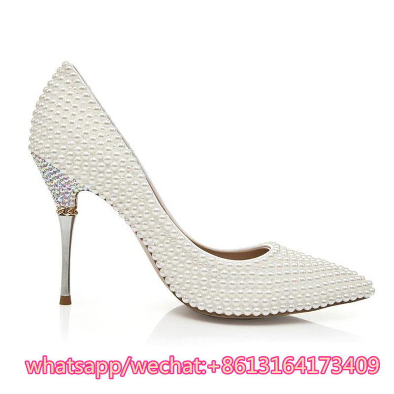 Bout Chaussures Haut Luxe As Stiletto Robe Haute Zapatos Kqaoqao Perles Sandales Pointu Femme De Pic Talons Qualité Mariage Main Mujer 2018 nPIW7HWYq