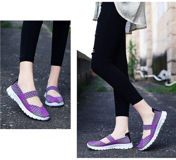 QJ 599-2019 Breathable Women Summer Shoes Fabric Woman Flats-11
