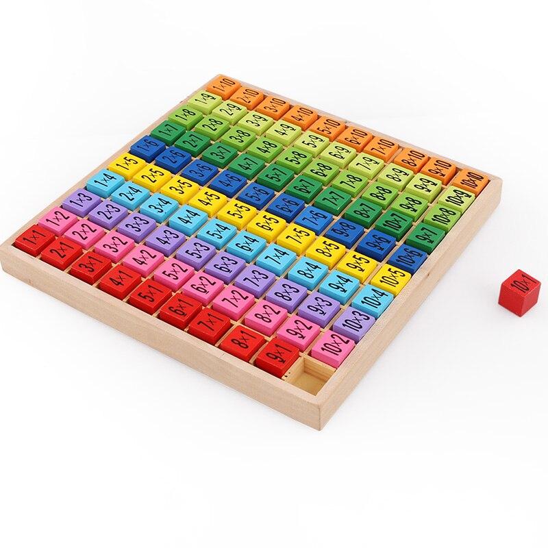 Brinquedos de Matemática montessori de ensino de madeira Atenção : Keep Dry