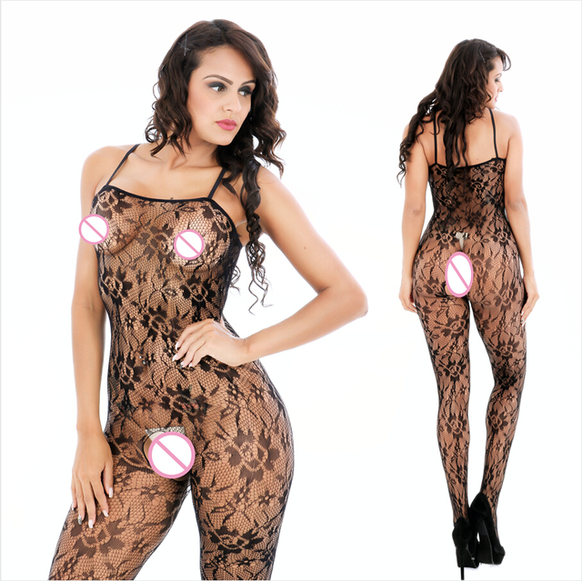 523fdfc25 Sexy Lingerie Hot Erotic Fishnet Bodystocking Costumes For Women Open  Crotch Catsuit Teddy Underwear Bodysuits