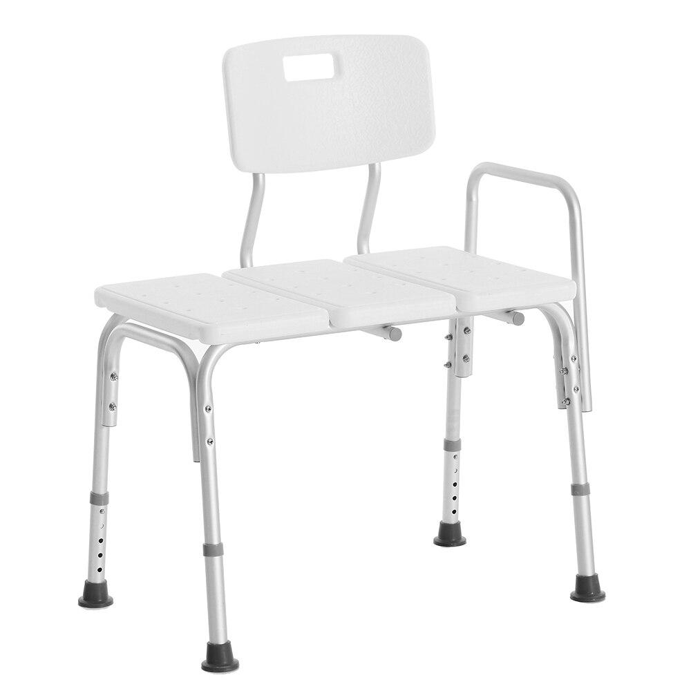 Adjustable Bathing Aids Health Care Tools Medical Shower Chair Bathroom Bath Tub Transfer Bench Seat Stool Armrest Back Stool
