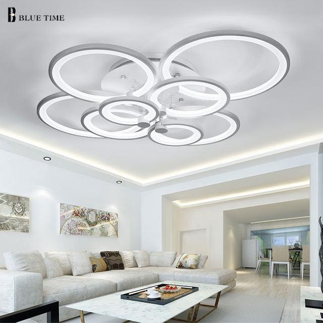 Online Shop Nero/Bianco Finito Lampadari LED Cerchio Moderni ...