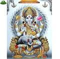 Ganesh Hinduísmo YUMEART 5D Diy Diamante Pintura Ponto Cruz Cristal de Diamante Define Inacabado Quadrado Diamante Bordado Religião