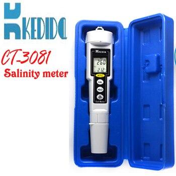 CT-3081 Pen type digital salt meter ,salinity meter, Water Salinity Tester waterproof, range:0-9999 mg/L
