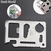 Ninth World 11 In 1 Multi Tools Outdoor Hunting Survival Camping Pocket Military Credit Card Knife Tool Kits