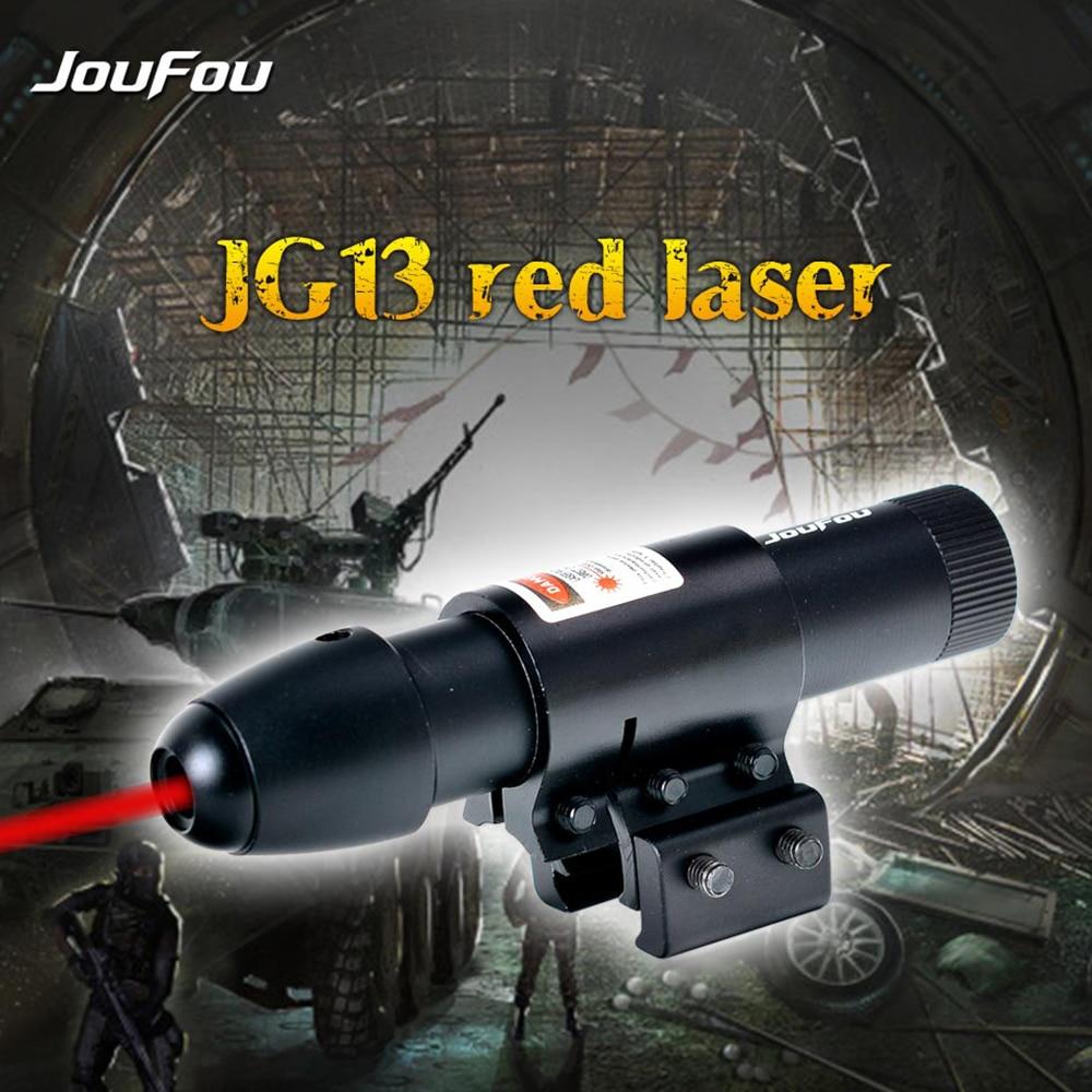 사냥 전술 JOUFOU 빨강 & 녹색 레이저 광경 범위 마운트와 함께 설정