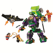 10843 super hero Models building toy 444pcs Lex Luthor Mech Takedown Building Blocks Compatible with legoings toys for children(China)