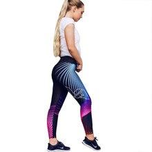 Women Sports Leggings Gym Yoga Pants High Waist Run Pants Workout Fitness Leggings Hip Push Up Tights Stretch Print Sportswear