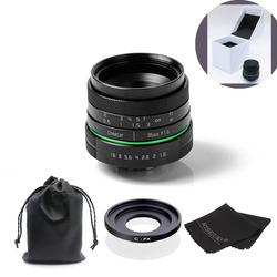 New green circle 35mm APS-C CCTV camera lens For Fujifilm X-E1,X-Pro1 with C-FX adapter ring +bag +gift +big box