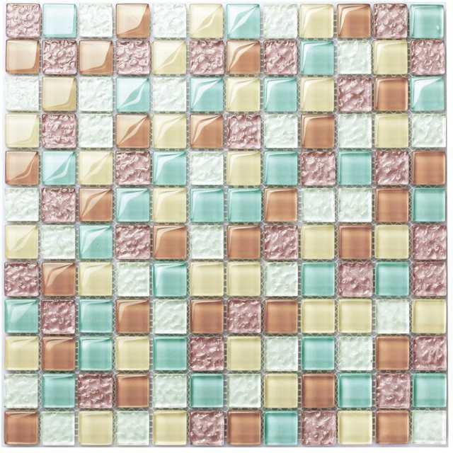 Tst Colorful Crystal Gl Tiles Multicolor Chips Background